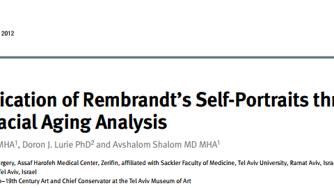 dr tali friedman professional article facial ageing analysis rembrandt