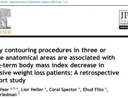 Body-shaping surgery in three or more areas contributes to the completion of weight loss