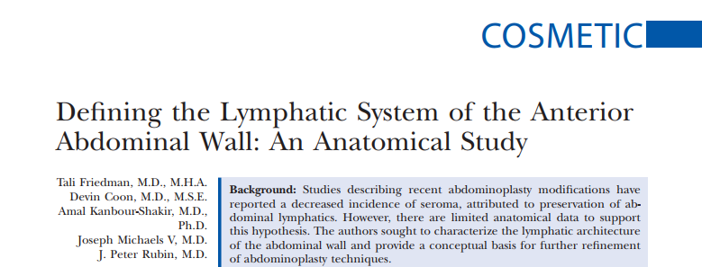 Defining the Lymphatic System of the Anterior