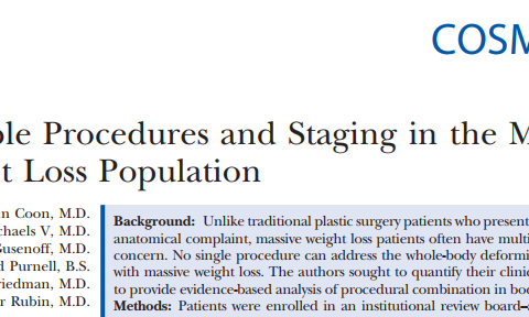 Multiple Procedures and Staging in the Massive