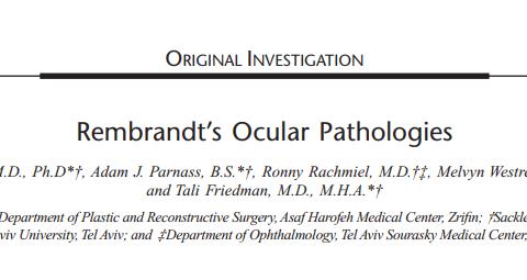 Rembrandt's Ocular Pathologies